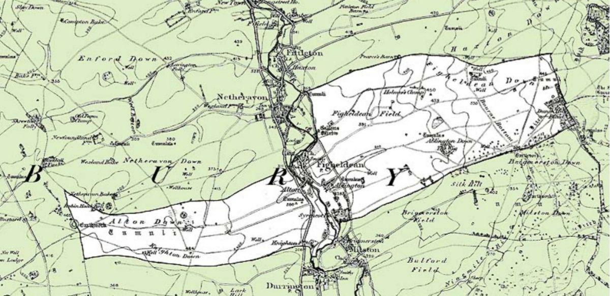 Figheldean Civil Parish Map 1896
