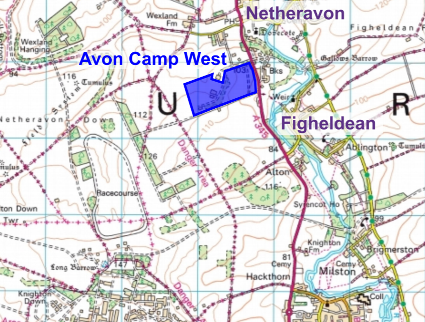 Map of the Proposed Location of the RAM at Avon Camp West